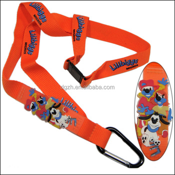 PVC silicon cartoon logo polyester neck lanyard for adverting gift