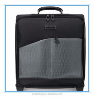 Polyester waterproof trolley luggage laptop trolley luggage travel bag with wheels for lady