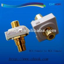 Clipsal Model RCA connector Female Gold -plaed AV Socket