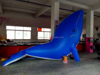 Custom giant inflatable whale blue for advertising promotion