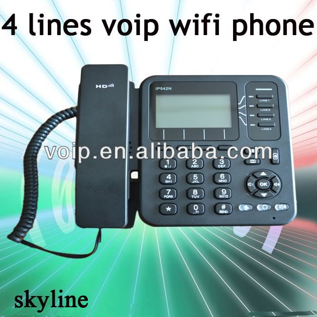 support wifi connections 4 lines pap2t voip phone adapter