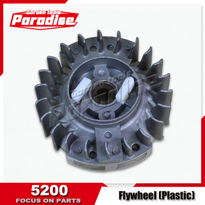 With Plastic Pawl Flywheel For 4500 5200 5800 Chainsaw Use