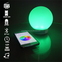 2015 China audio new phone app use smart colorful Led Lighting bluetooth bulb speaker