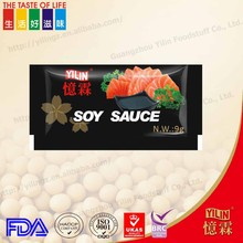 9g small sachet traditional soy sauce with high quality