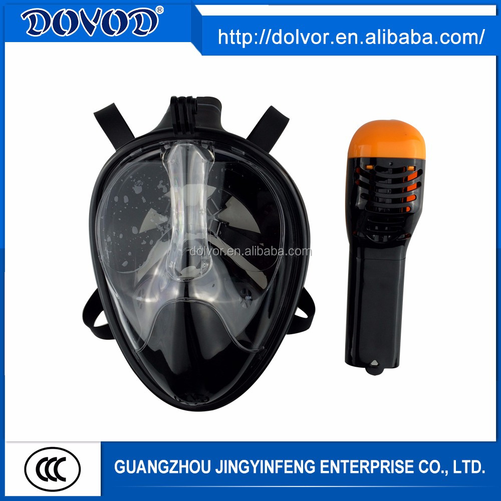 Adult scuba diving equipment free breathing full face snorkel mask