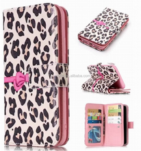 Wholesale Multifunction 9 Card Slot Painted Butterfly Pattern Stand PU Leather Case for iPhone X