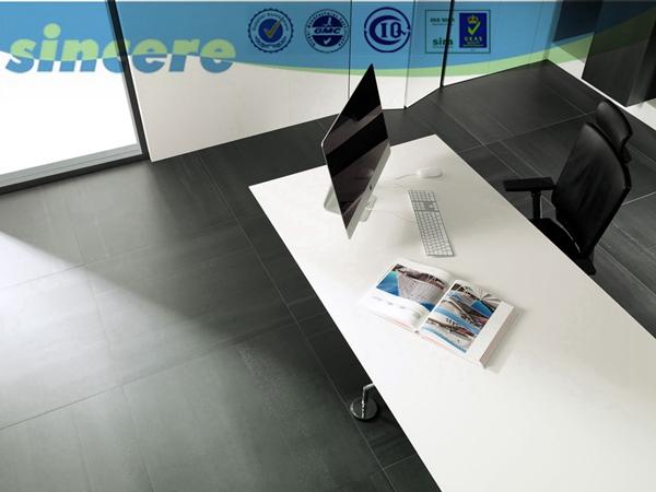 Encimera de granito piso de porcelanato alicatados for Precio metro encimera granito