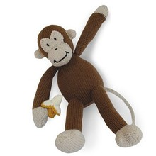 Wholesale hand knitted stuffed monkey toys for baby