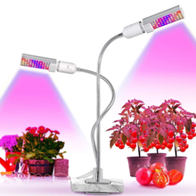 2019 New 45W Dimmer timer clip led grow light for Indoor Plants Hydroponics Garden Home Office grow lighting