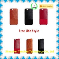 new arrived new design cowhide leather wallet case for iphone 6