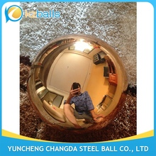 100 200 300 400mm orange color stainless steel gazing ball
