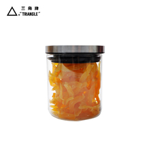 Food glass jar with stainless steel lid borosilicate Borosilicate Glass Food Storage jar hermetic glass storage jars