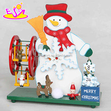 Snowman Christmas Musical Music Box,Children wooden Christmas music box,Best wooden music box for Christmas gift W07B006B