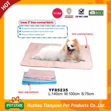 Non Slip Bottom Self Cooling Fabric Cooling Pet Mat for Dog Bed