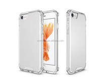 2 in 1 TPU+PC Clear Shockproof Case for iPhone 7