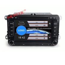 2 din 7 inch Car DVD Player for car volkswagen Golf Tiguan Passat Polo Bora Leon Seat Skoda with wifi 3G GPS bluetooth radio