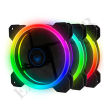 Case Fan, RGB LED 120mm High Airflow Quiet Edition LED Fan CPU Coolers & Radiators with Rainbow Effect for Computer Cases
