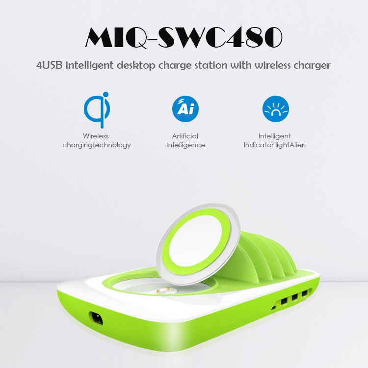 Desktop Usb Multi Charger 4 Port Multi Usb Cell Phone Charging Station For Iphone