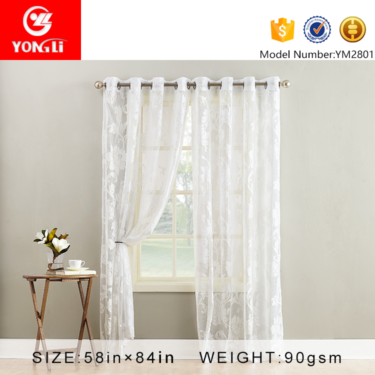 Alibaba supplier welcome ODM ready made sheer curtain for drawing room