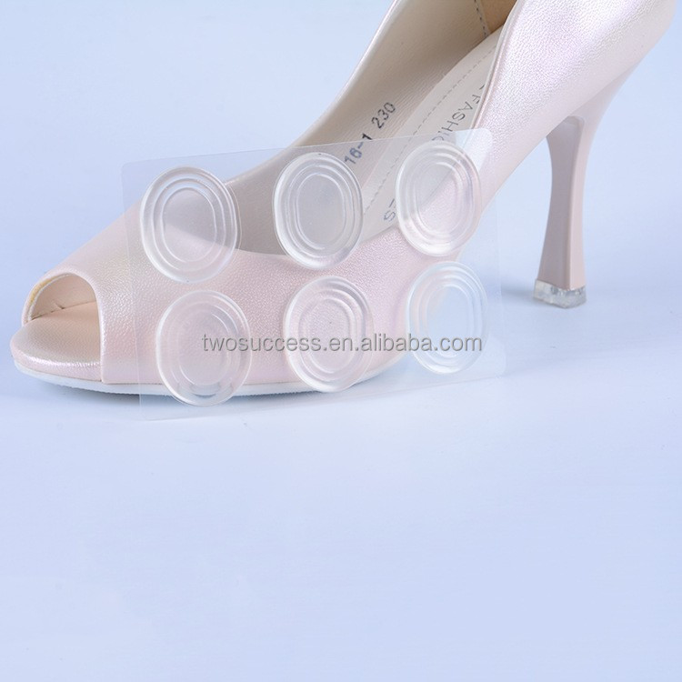 Bulk sale 6pcs Silicone Gel Pads Heel Cushion Foot Care Protectors Silicone High heel Shoe Sticker Pads