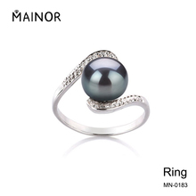Black Pearl Ring Cheap Silver Rings Engagement Ring Designs