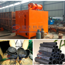 Wood coconut shell sawdust briquette charcoal carbonization kiln