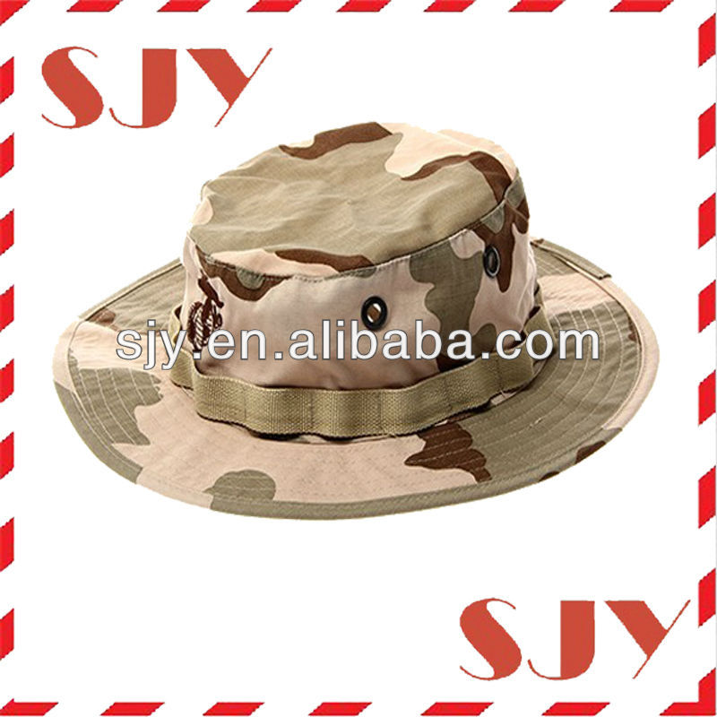 Fashion Military style woodland camouflage pattern boonie hat