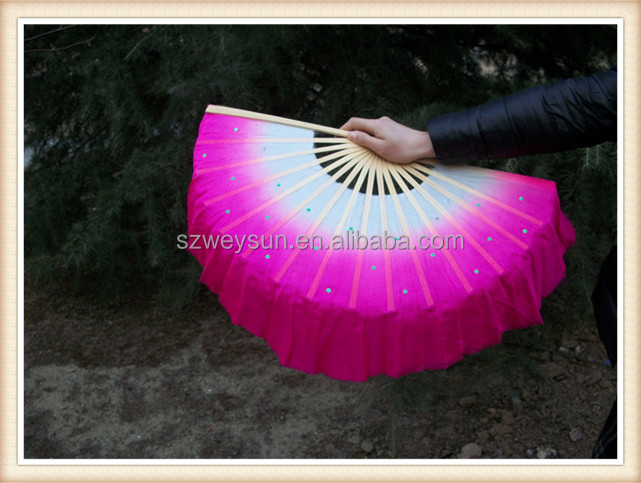 Chinese silk fabric dancing fan