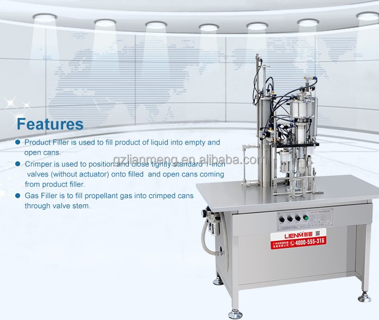 Semi-auto Body Spray Pesticides Aerosol Filling Machine