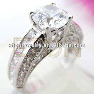 Best selling high shine finish pure clear white AAA cz fantasy artisan crafted wholesale fashion 925 silver engagement ring