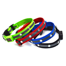 Pet Dogs Camouflage LED Collar Safety Night Lighted up Nylon LED Collar