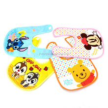 Best selling promotional high quality custom cheap cotton baby bib