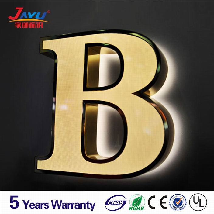 High quality sign makers outdoor building backlit shop sign