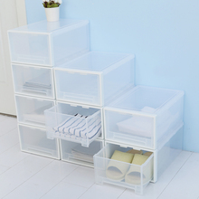 Stackable home/living room storage boxes shoes boxes plastic shoe boxes organiser drawer