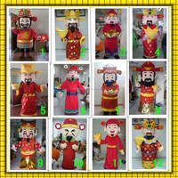 12 different designs of Chinese traditional God of wealth mascot for new year life size adult God of wealth mascot costume