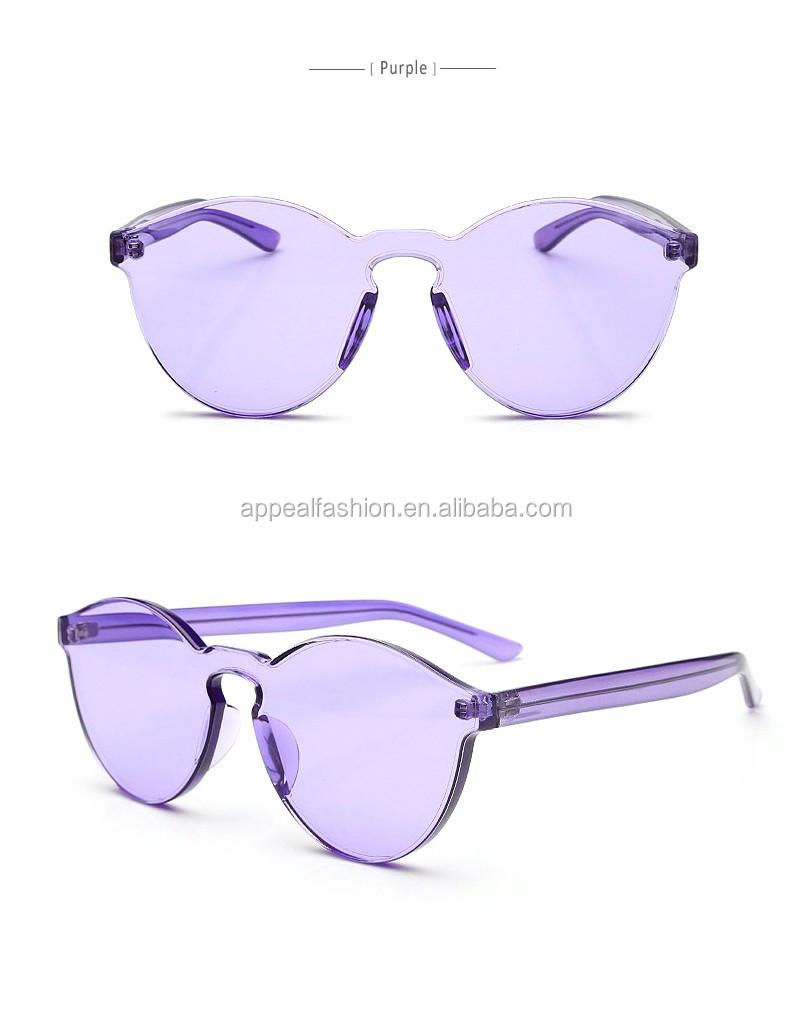 Rimless Glasses Advantages : Wholesale 2016 Fashion Newest Design Transparent Candy ...