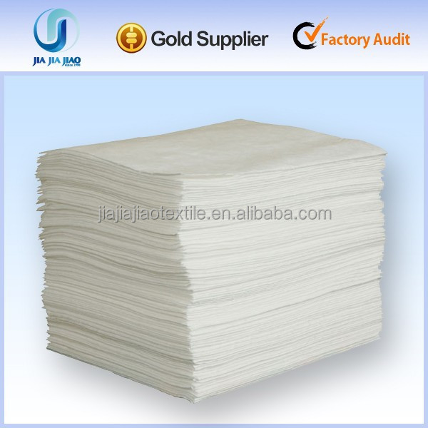 Hot Sale Dimpled Oil Absorbent Pad White Color