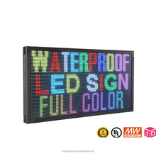 P10 outdoor led message display sign / RGB electronic rolling led display sign