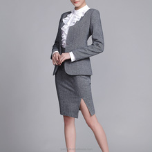 Fashion Tailor Made ladies office uniform designs suits for women handmade business suits