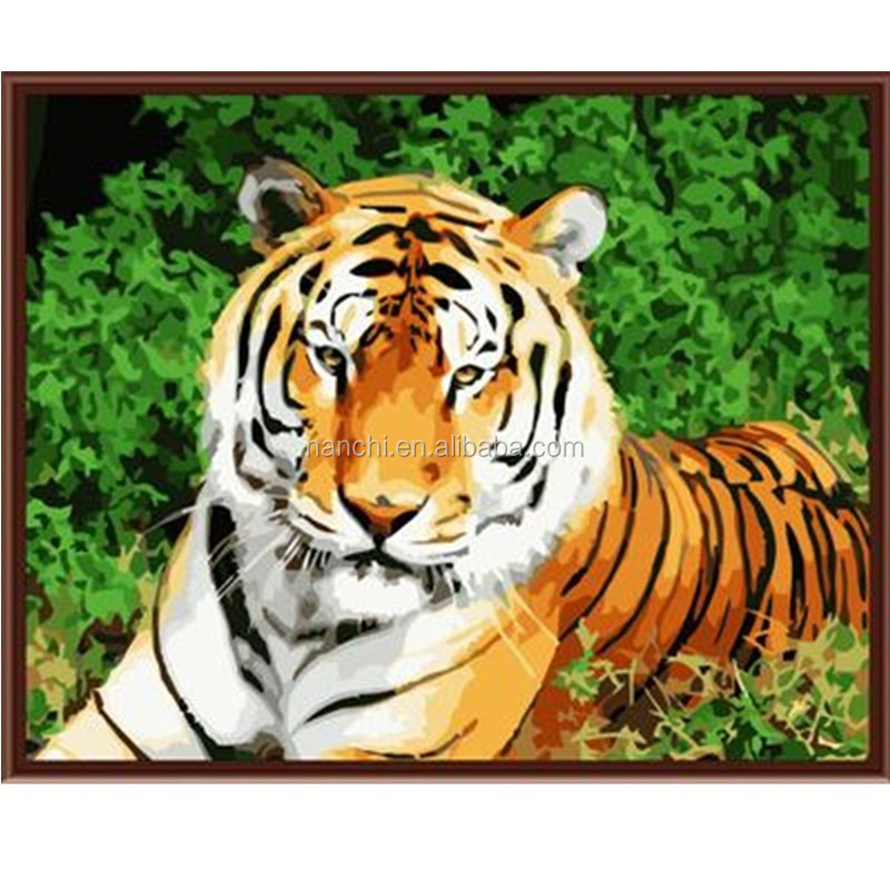 King of the forest 2 Framless New arrival unique gift Digital Oil Painting On Canvas painting by numbers decorative picture