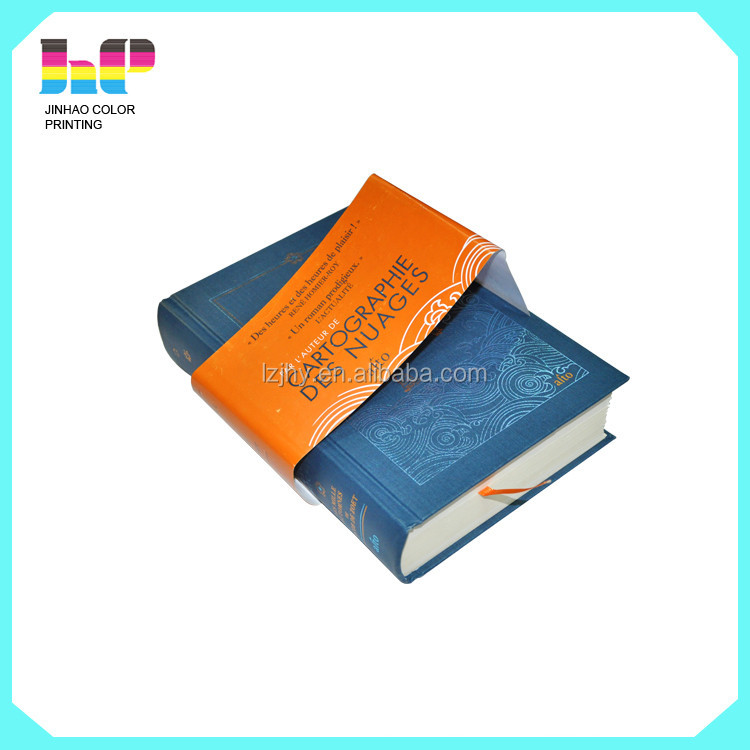 high qualtiy cloth mounted hardcover book with paper tape printing