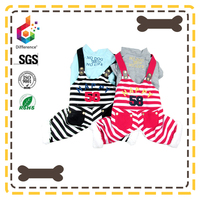 striped overalls dog clothes