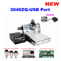 3040 ZQ-USB MINI Engraving machine 3 axis cnc router with 300W spindle, USB Port