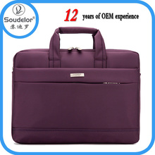 Leisure Style laptop tote bag with shoulder strap With Low Price laptop bag purple