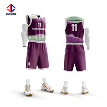 Top quality 100% polyester sublimation college basketball uniform