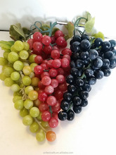 3 Bunches Lifelike Artificial Grapes Soft Rubber Fake Fruit Food Home Decor
