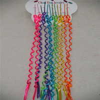 Fashion kids hair accessories little girls ponytail hair extension with colorful beads