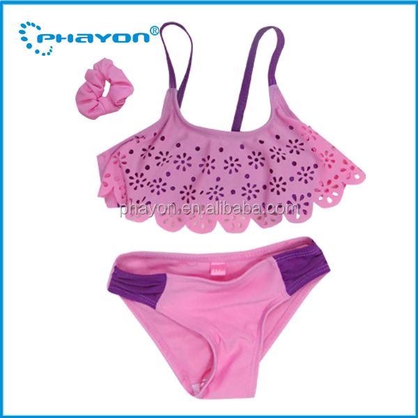 2016 Hot Sex Children Cute Young Girl Swimwear Cute Girl Frilly Swimwear