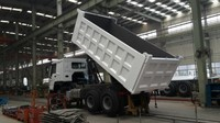 China sinotruk howo 6x4 371hp 70Ton off-road wide van-body tipper