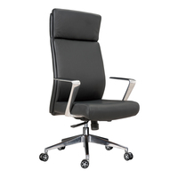Manager office chairs with aluminium base can bear 200kg office chair leather
